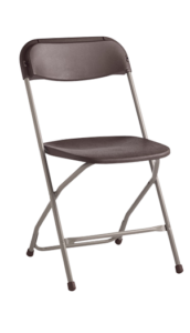 Samsonite black folding Chair |Avery Rents Party Supplies Omaha and Bellevue