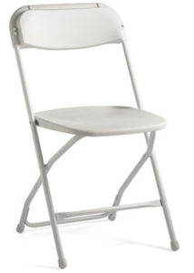 Injection mold folding chair by Samsonite | Avery Rents Party Supplies, Omaha and Bellevue