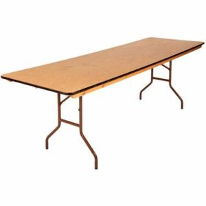 Folding Table 8 foot x 30 inches | Avery Rents Party Supplies Omaha and Bellevue